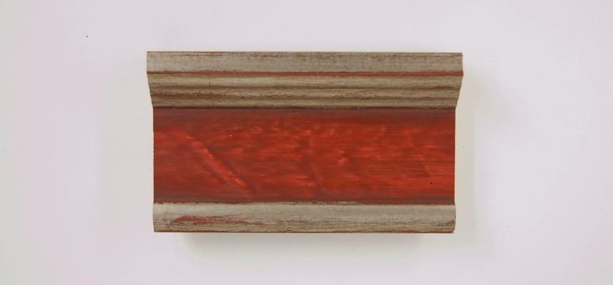 H4W42S Zilver - rood handgegrondeerd